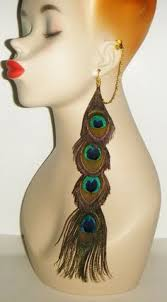peacock feather earrings s 14 peacock feather earrings w infinity charms