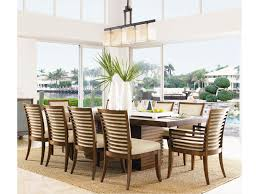 tommy bahama home ocean club 11 piece peninsula dining table tommy bahama home ocean club 11 piece peninsula dining table kowloon chair set becker furniture world dining 7 or more piece sets