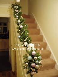 Christmas Banister Garland Ideas 18 Best Christmas Staircase Images On Pinterest Christmas Time
