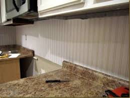 Beadboard Backsplash Kitchen Kitchen Updates U201cbead Board U201d Backsplash In Progress Fearfully