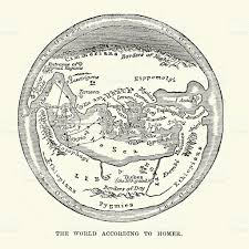 Ancient Map Of Middle East by Map Of The Ancient World According To Homer Stock Vector Art