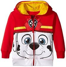 paw patrol toddler boys u0027 marshall hoodie red big face 5t ebay