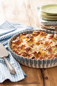three cheese strata with ham recipe relish