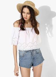 forever 21 white blouse buy forever 21 white embroidered blouse for india