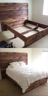 Diy Pallet Bench Instructions Bed Frames Diy Pallet Bed Instructions King Size Pallet Bed