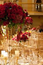 burgundy gold red centerpiece gold burgundy table decorations