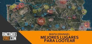 pubg erangel mejores lugares para lootear mapa erangel de pubg rincón del pubg