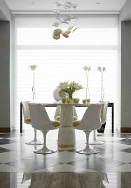 white modern dining table set elle decor tips how to get a modern dining room set