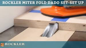 Laminate Floor Saw Rockler Miter Fold Dado Set Set Up Your Saw For Success Youtube
