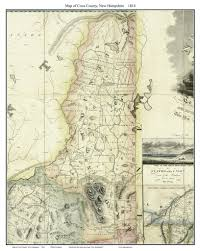 Nh County Map Maps Of New Hampshire Counties From The 1816 Carrigain State Map