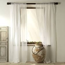 Cotton Gauze Curtains Sheer Linen Curtain White West Elm