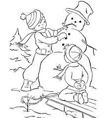 snowman child coloring allfreechristmascrafts