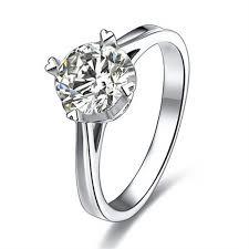 fine wedding rings images 2carat princess cut fine silver sona simulated diamond promise jpg