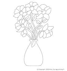 coloriage vase de fleurs