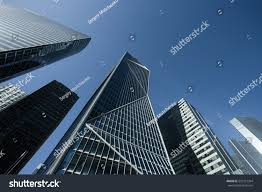 skyscrapers glass facade modern buildings paris stock photo