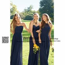 navy blue 2017 off shoulder bridesmaid dresses long with abc
