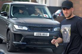 land rover matte manchester united defender luke shaw learns to drive in matte
