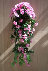 Silk Flower Plants - 1stem morning glory hanging flower artificial silk flower trailing