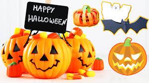 halloween decorations for pumpkins diy paper pumpkin bat and ghost easy halloween decoration diy