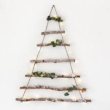 deko baum wand birkenzweig wand dekoration weihnachts deko baum holz kunstschnee