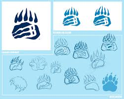 bruins paw print and mural sketch freely
