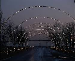 photos of lights on the bay at sandy point state park