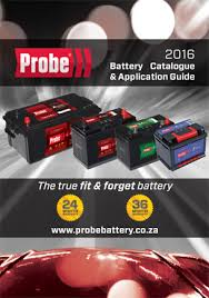 register for the probe battery catalogue
