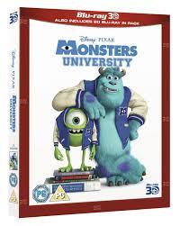 monsters university 3d super deluxe bluray