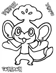 pokemon pansage coloring pages pokemon coloring pages