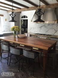 antique reclaimed chestnut wood table in east hampton ny