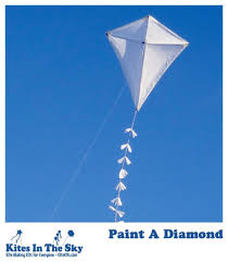 paint a diamond kite kit kites in the sky