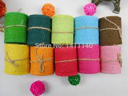 colored burlap ribbon online get cheap colored jute ribbon aliexpress alibaba