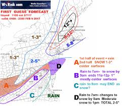 Snow Forecast Map 1st Guess Snow Forecast Map For Feb 9 Wxrisk Com