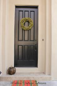 Painting Exterior Door Remodelaholic Painting A Wooden Exterior Door Black