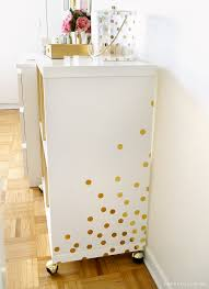 diy white gold bar cart ikea hack u2022 sara du jour