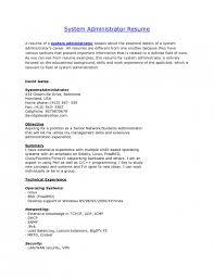 System Administrator Resume Samples elegant system administrator resume format resume format web