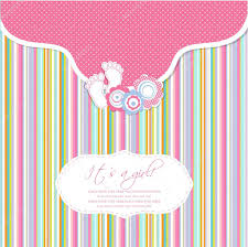 baby shower card with foot steps and frame for your text
