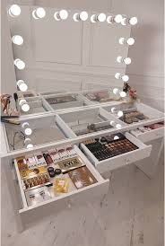 professional makeup station diy vanity mirror with lights for bathroom and makeup station