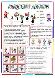 185 free esl adverbs of frequency worksheets