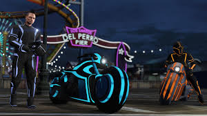 Tron Halloween Costume Light Up by Tron Style Light Cycles Have Arrived In Gta Online Pc Gamer