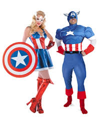 Superheroes Halloween Costumes Captain America Peggy Carter Couple Costume Super Hero Couple