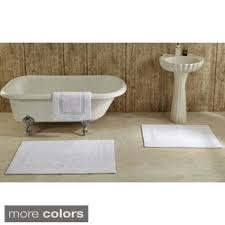 Luxe Microfiber Chenille Bath Rug Luxe Collection Cotton 2 Piece Bath Rug Set Includes Bonus Step