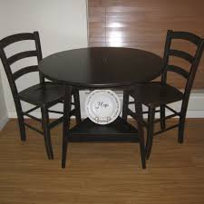 small tall round kitchen table black round dining table and chairs image of stylish small round