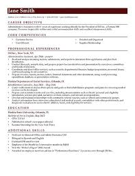 Excellent Resume Sample by Example Of Resume Objective Resume Examples Basic Resume