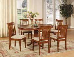 traditional dining room with 7 piece portland dinette oval dining