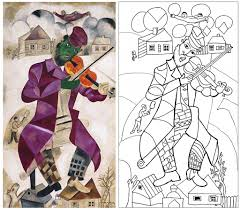 new coloring page from a marc chagall painting coloring pages