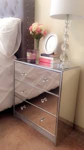 How To Make A Mirrored Nightstand Diy Mirrored Dresser Old White With Diamond Overlay Chic Mirror