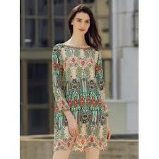 v shaped dress pattern wholesale boat neck back v shape indian print dress m colormix