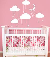 cloud wall decals baby room nursery clouds moon and stars wall