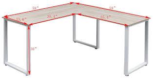 L Corner Desk Merax L Shape Corner Desk Reviews Wayfair